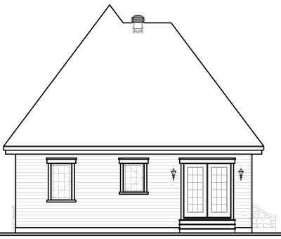 Rear Elevation Plan: 5-171