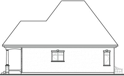 Rear Elevation Plan: 5-173