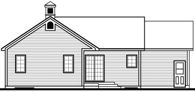 Rear Elevation Plan: 5-174