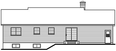 Rear Elevation Plan: 5-175