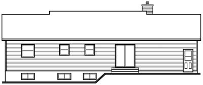 Rear Elevation Plan: 5-176