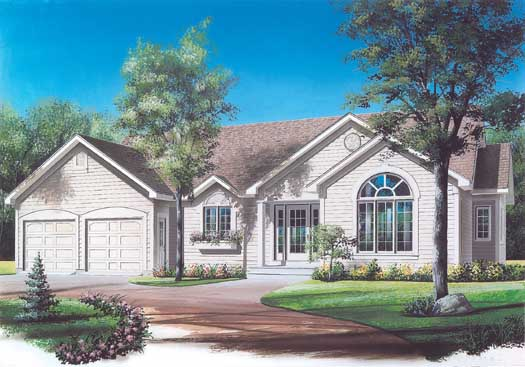 Traditional Style Home Design Plan: 5-178