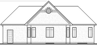 Rear Elevation Plan: 5-181