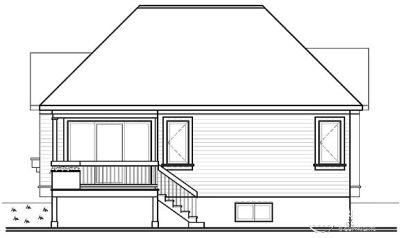 Rear Elevation Plan: 5-183