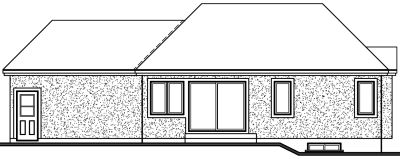 Rear Elevation Plan: 5-184