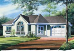 Traditional Style Home Design Plan: 5-184