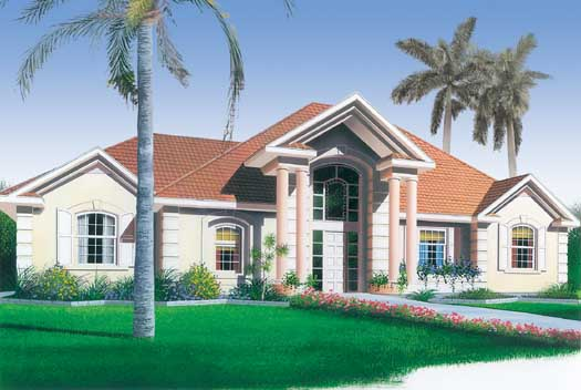 Mediterranean Style House Plans Plan: 5-186