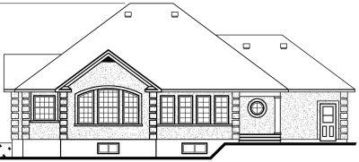 Rear Elevation Plan: 5-186