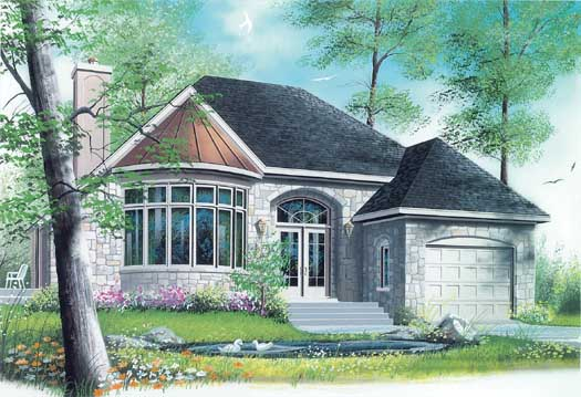 European Style House Plans Plan: 5-187