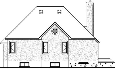 Rear Elevation Plan: 5-187