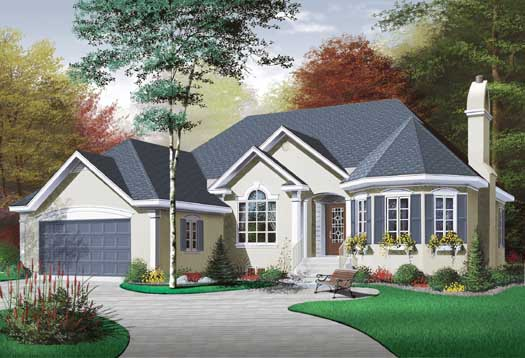 Traditional Style Home Design Plan: 5-188