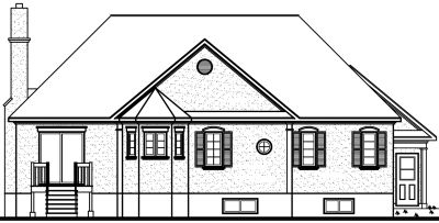 Rear Elevation Plan: 5-188