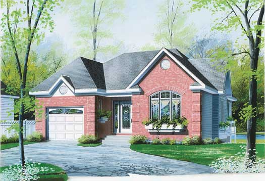European Style House Plans Plan: 5-189