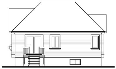 Rear Elevation Plan: 5-189