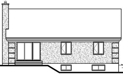 Rear Elevation Plan: 5-190