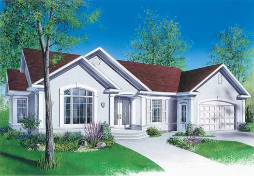 European Style Home Design Plan: 5-191