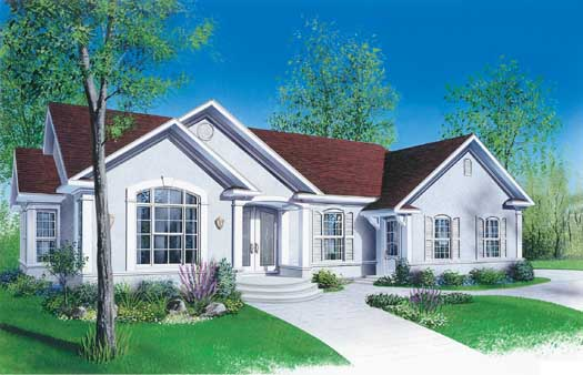 European Style Home Design Plan: 5-192