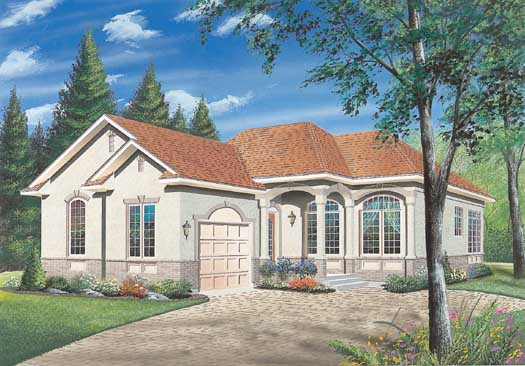 European Style Home Design Plan: 5-193