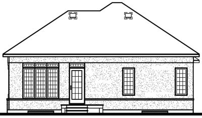 Rear Elevation Plan: 5-193