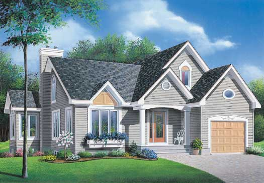 Traditional Style Home Design Plan: 5-195
