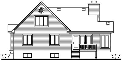 Rear Elevation Plan: 5-195