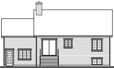 Rear Elevation Plan: 5-196