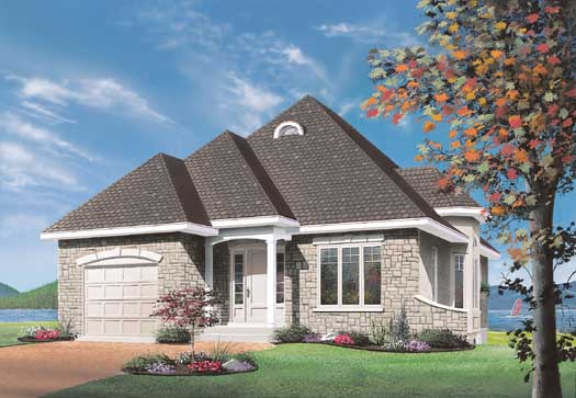 French-country Style House Plans Plan: 5-197