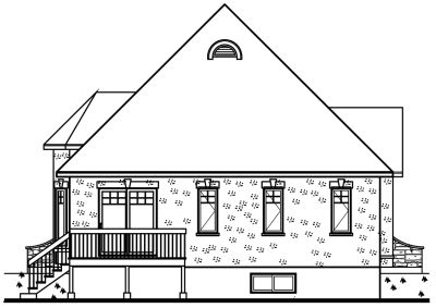 Rear Elevation Plan: 5-197
