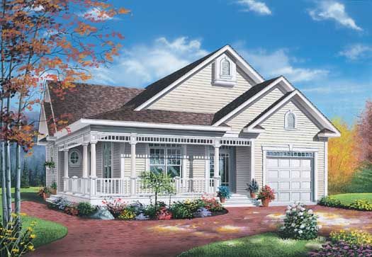 Country Style Floor Plans Plan: 5-198