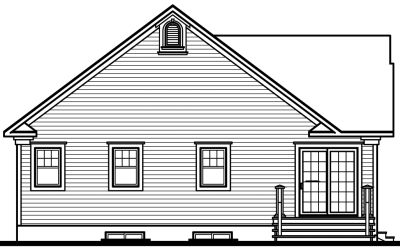 Rear Elevation Plan: 5-198