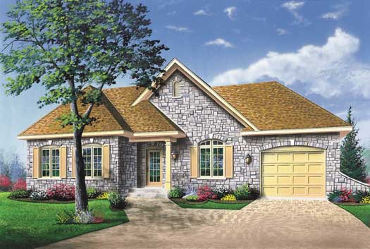 French-Country Style House Plans Plan: 5-199