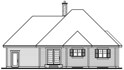 Rear Elevation Plan: 5-200
