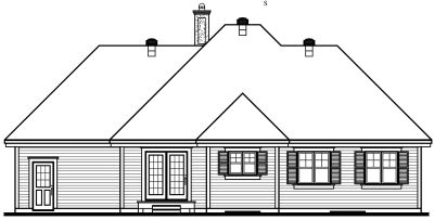 Rear Elevation Plan: 5-201