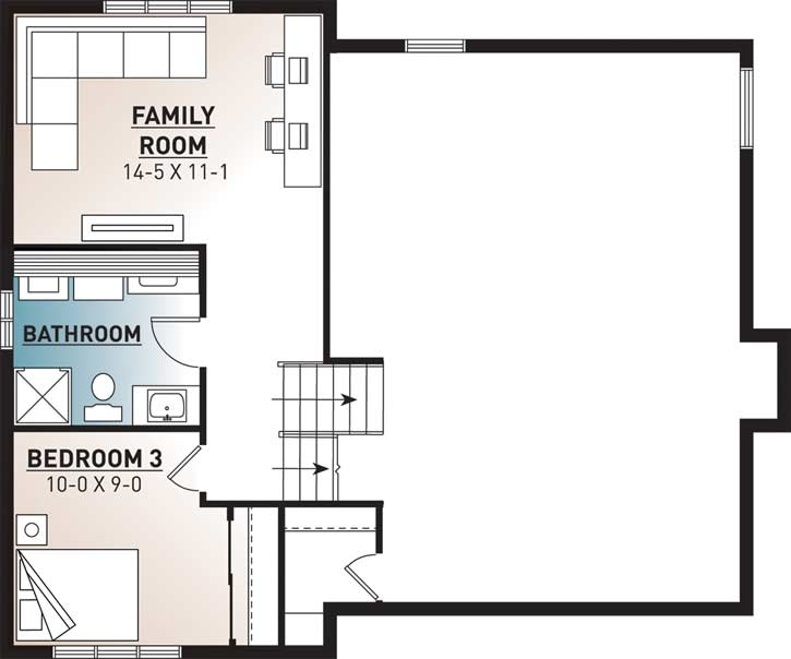 Lower Floor Plan:5-203
