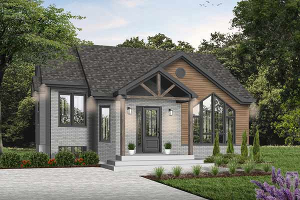 European Style House Plans Plan: 5-205