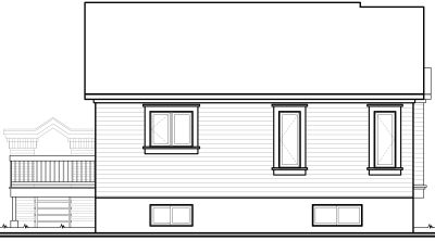 Rear Elevation Plan: 5-205