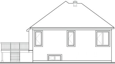 Rear Elevation Plan: 5-207