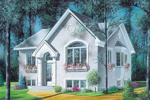 European Style Home Design Plan: 5-208