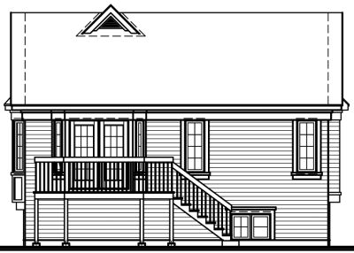 Rear Elevation Plan: 5-208