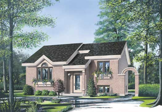 Contemporary Style Floor Plans Plan: 5-209