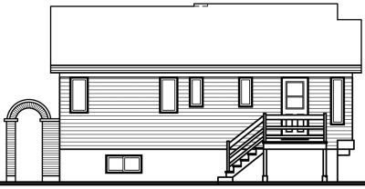 Rear Elevation Plan: 5-209