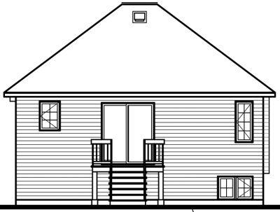 Rear Elevation Plan: 5-215