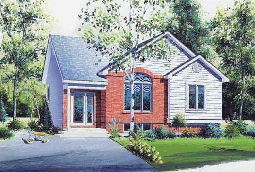 Traditional Style Home Design Plan: 5-217