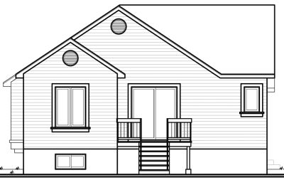 Rear Elevation Plan: 5-217