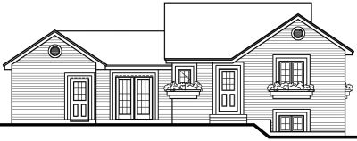 Rear Elevation Plan: 5-218