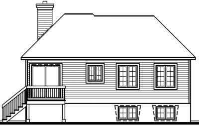Rear Elevation Plan: 5-219