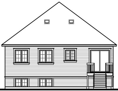 Rear Elevation Plan: 5-220