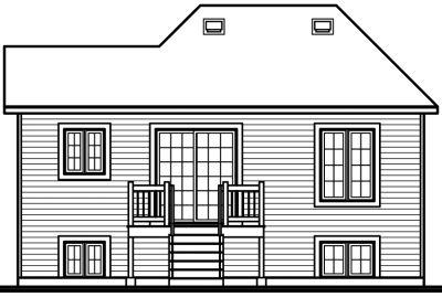 Rear Elevation Plan: 5-221