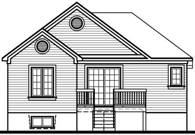 Rear Elevation Plan: 5-222