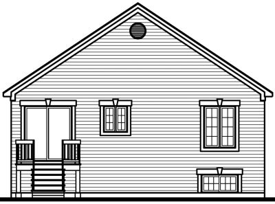 Rear Elevation Plan: 5-223